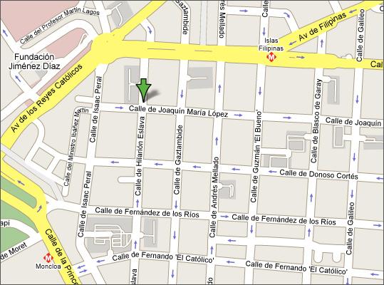 mapa tienda juvenil en madrid